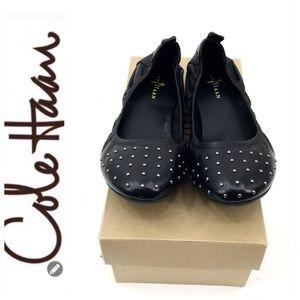 💕SALE💕 Cole Haan Studded Toe Ballet Flats